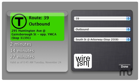 Screenshot 1 for MBTA Bus Tracker