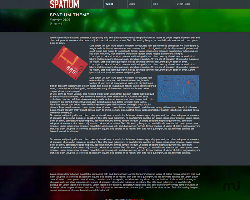 Screenshot 1 for Spatium Theme