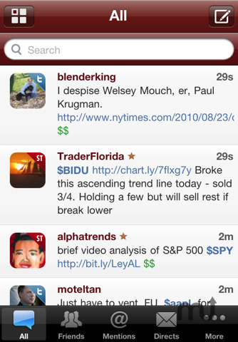 Screenshot 2 for StockTwits