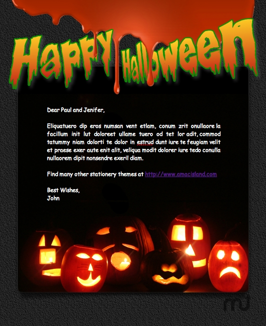 Screenshot 1 for Mail Stationery Pack - Halloween 2010