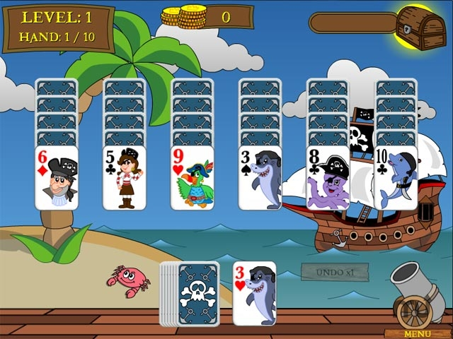 Screenshot 1 for Pirate Solitaire