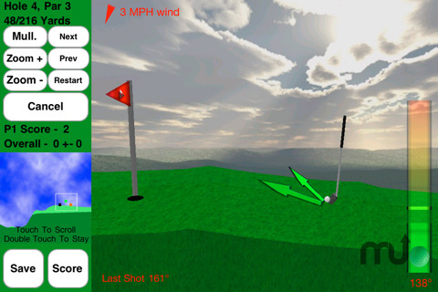 Screenshot 3 for Rocket Golf Lite