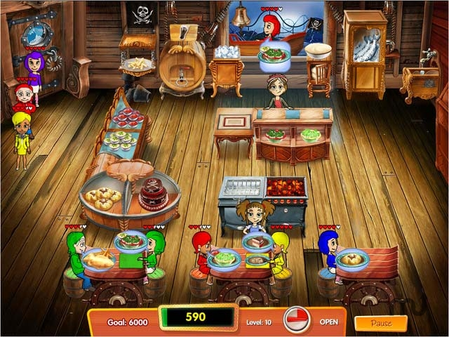 Screenshot 1 for Cooking Dash 3 - Thrills and Spills