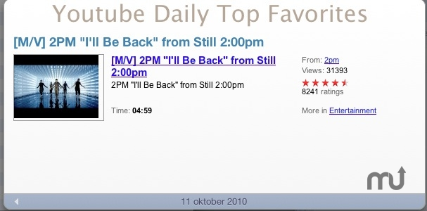 Screenshot 1 for Youtube Daily Top Favorites