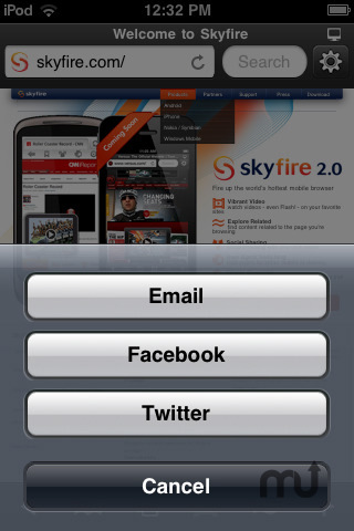 Screenshot 3 for Skyfire Web Browser
