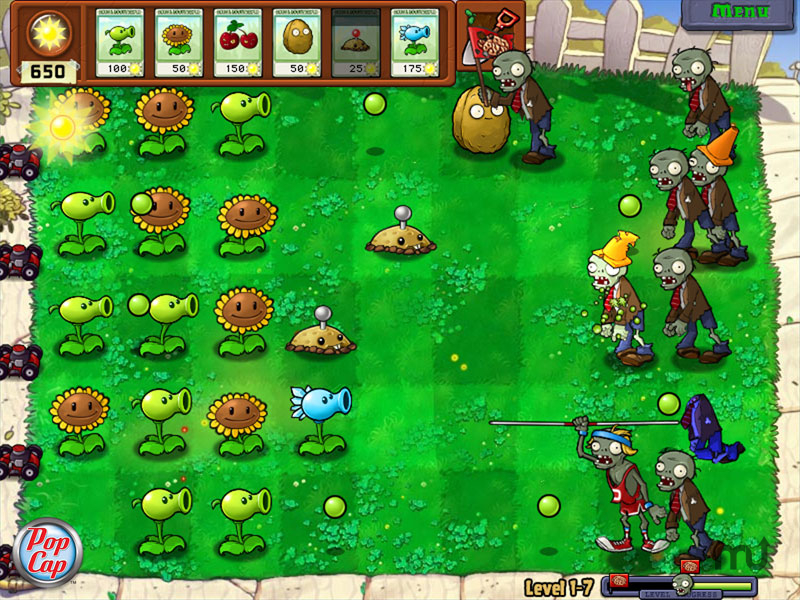 Screenshot 1 for Plants vs Zombies & Peggle Nights