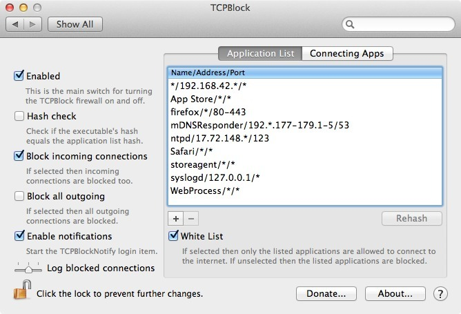 Screenshot 1 for TCPBlock