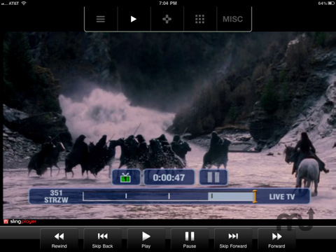 Screenshot 5 for SlingPlayer Mobile for iPad