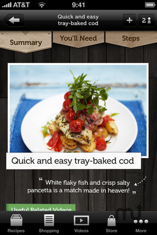Screenshot 2 for Jamie\'s Recipes