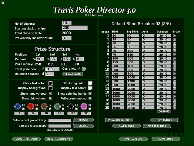 Screenshot 1 for Travis Poker Director
