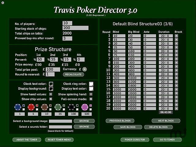 Travis poker timer 4 serial palais des congres juan les pins casino