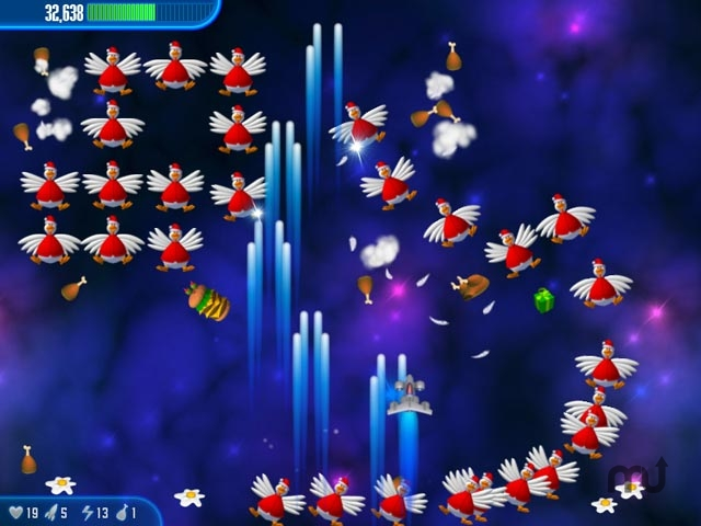 Screenshot 1 for Chicken Invaders 3 Christmas Edition