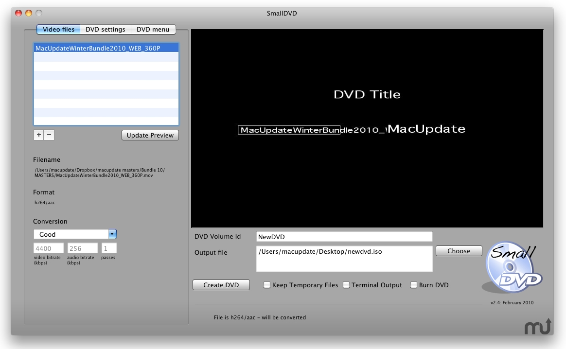 Screenshot 1 for SmallDVD
