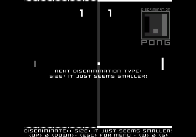 Screenshot 1 for DiscriminationPong