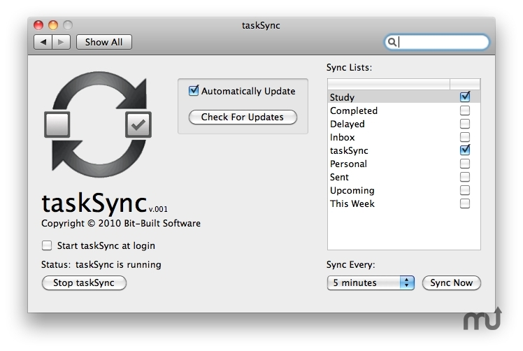 Screenshot 1 for taskSync