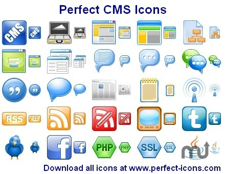 Screenshot 1 for Perfect CMS Icons