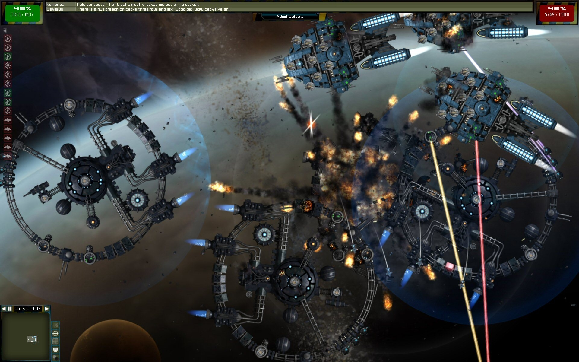 Screenshot 1 for Gratuitous Space Battles