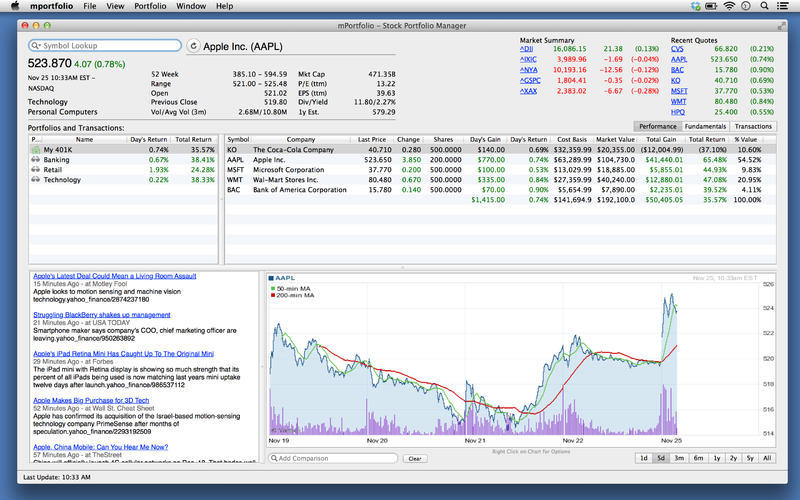 Screenshot 1 for mPortfolio