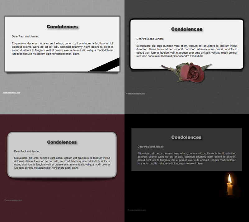 Screenshot 1 for Condolences Stationery pack