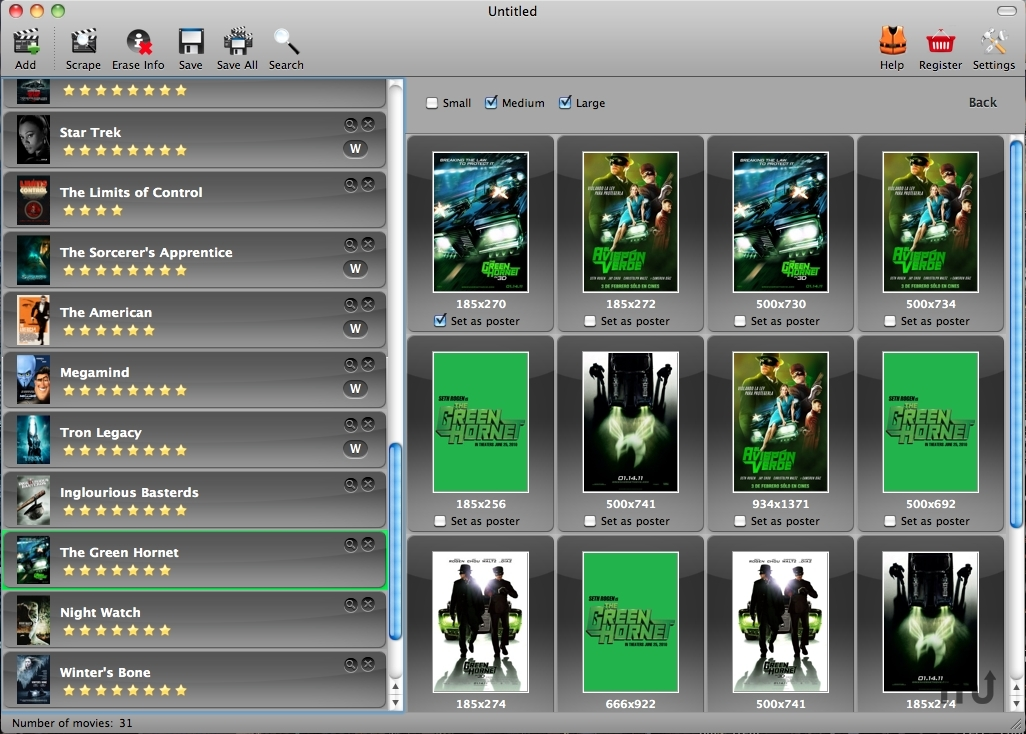 Screenshot 1 for Messy Movie Manager