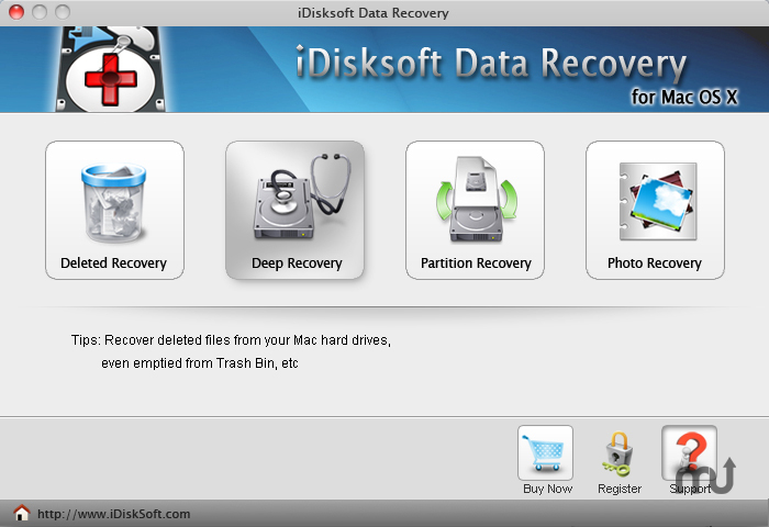 Screenshot 1 for iDisksoft Data Recovery for Mac