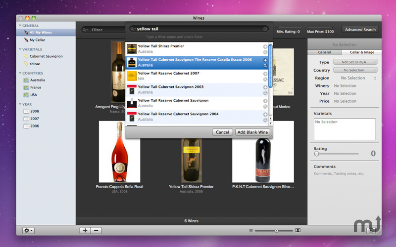 Screenshot 1 for Wines