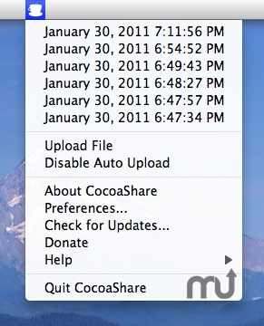 Screenshot 1 for CocoaShare