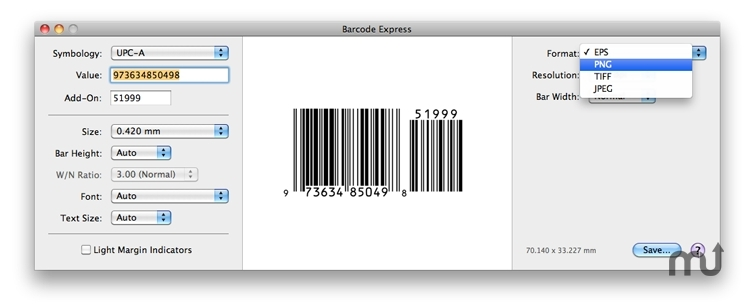 Screenshot 1 for Barcode Express