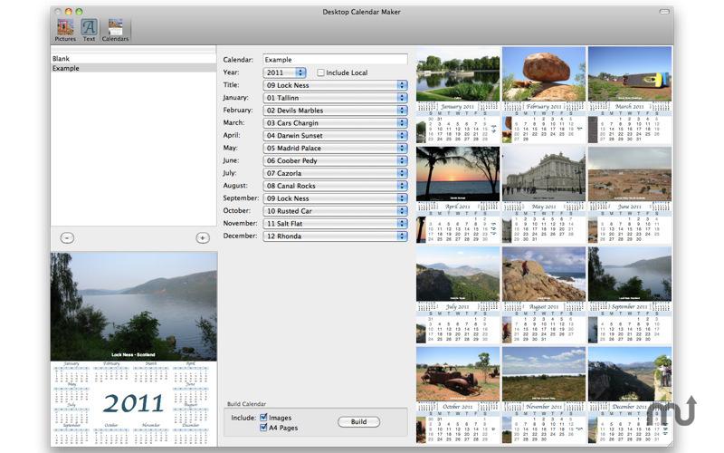 Desktop Calendar Maker : MacUpdate