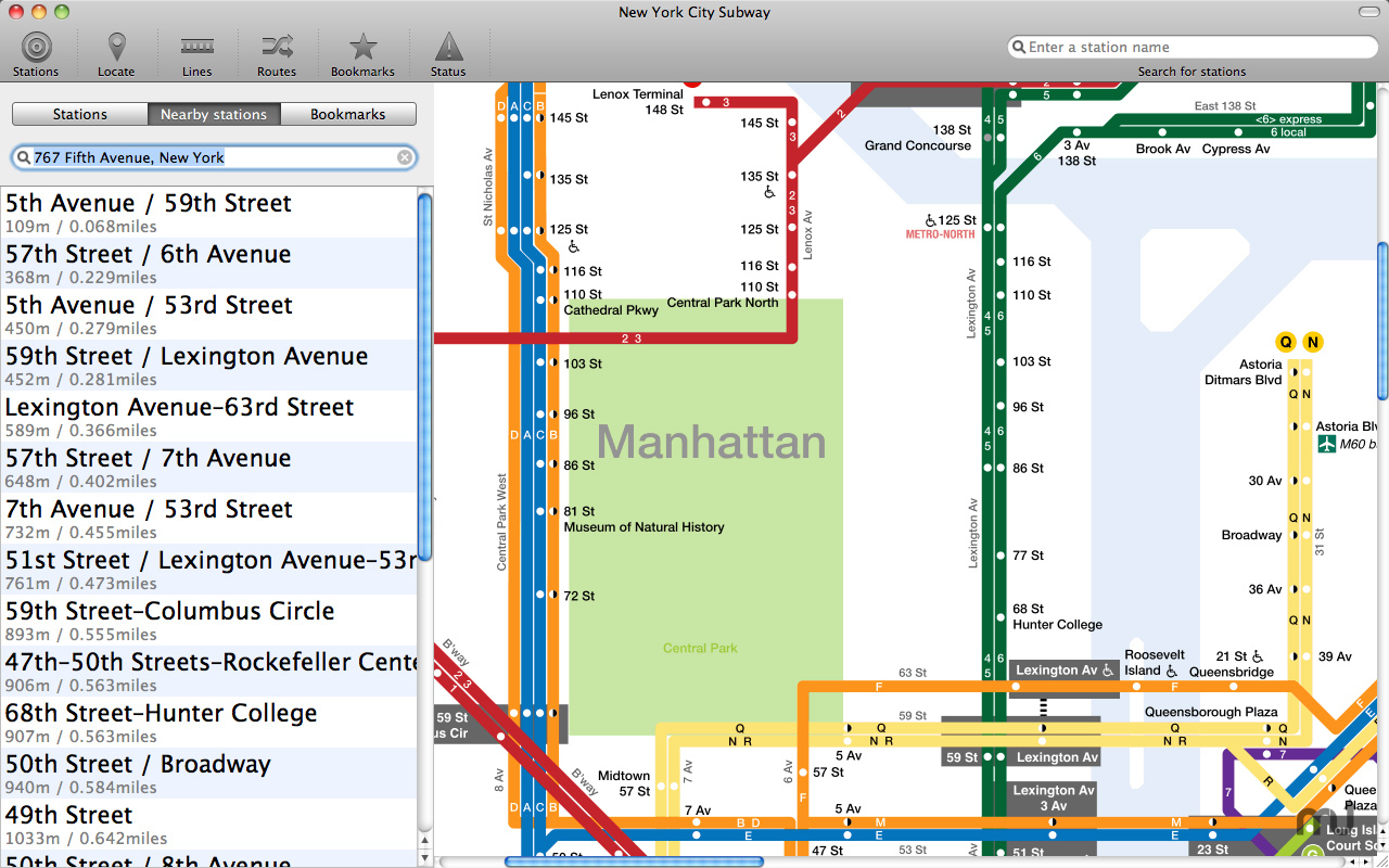 Screenshot 1 for New York Subway