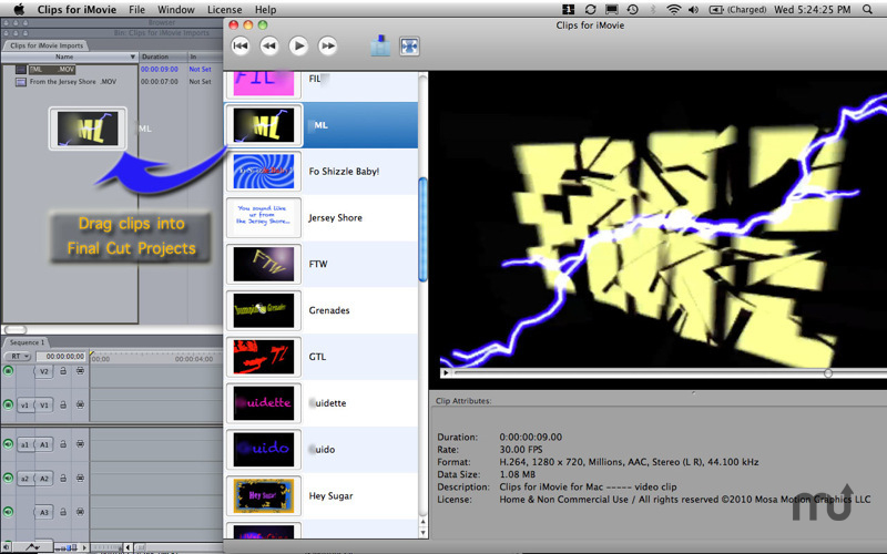 Screenshot 1 for Clips for iMovie