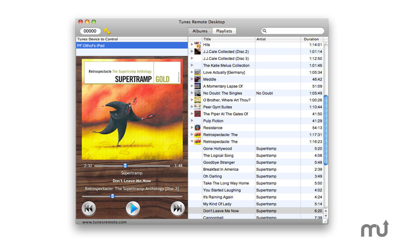 Screenshot 1 for Tunes Remote Desktop