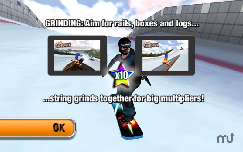 Screenshot 1 for Crazy Snowboard