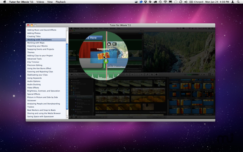 Screenshot 1 for Tutor for iMovie '11