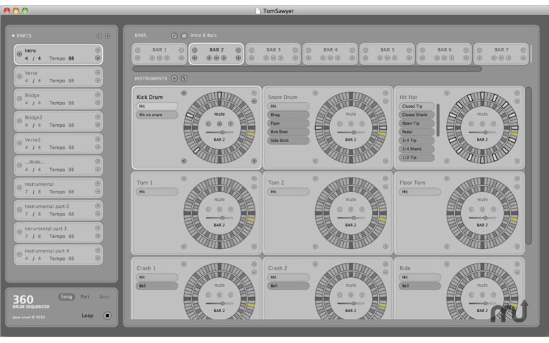 Screenshot 1 for 360 Drum Sequencer