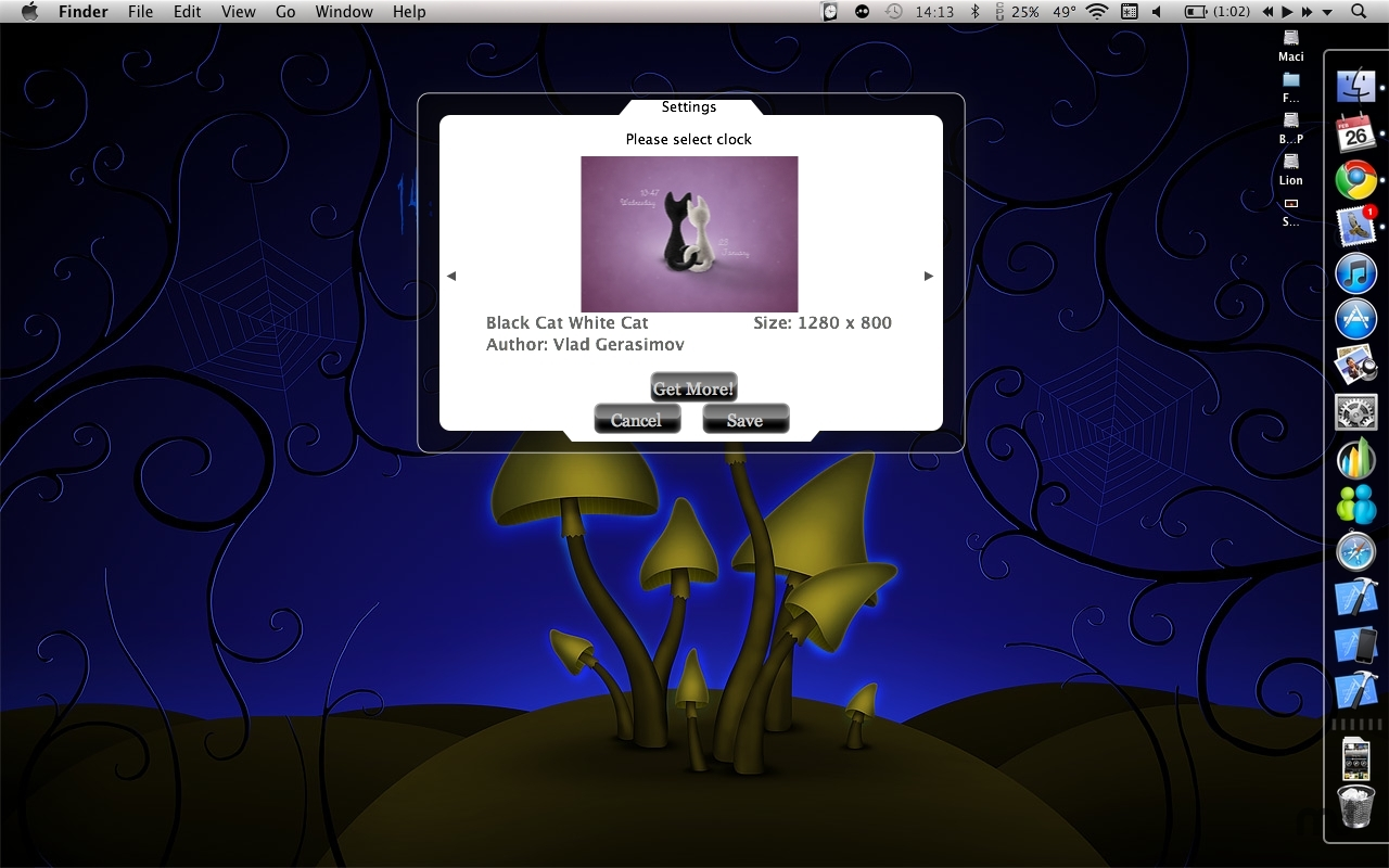 Screenshot 1 for Vladstudio Clock