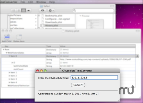 Screenshot 1 for CFAbsoluteTimeConverter