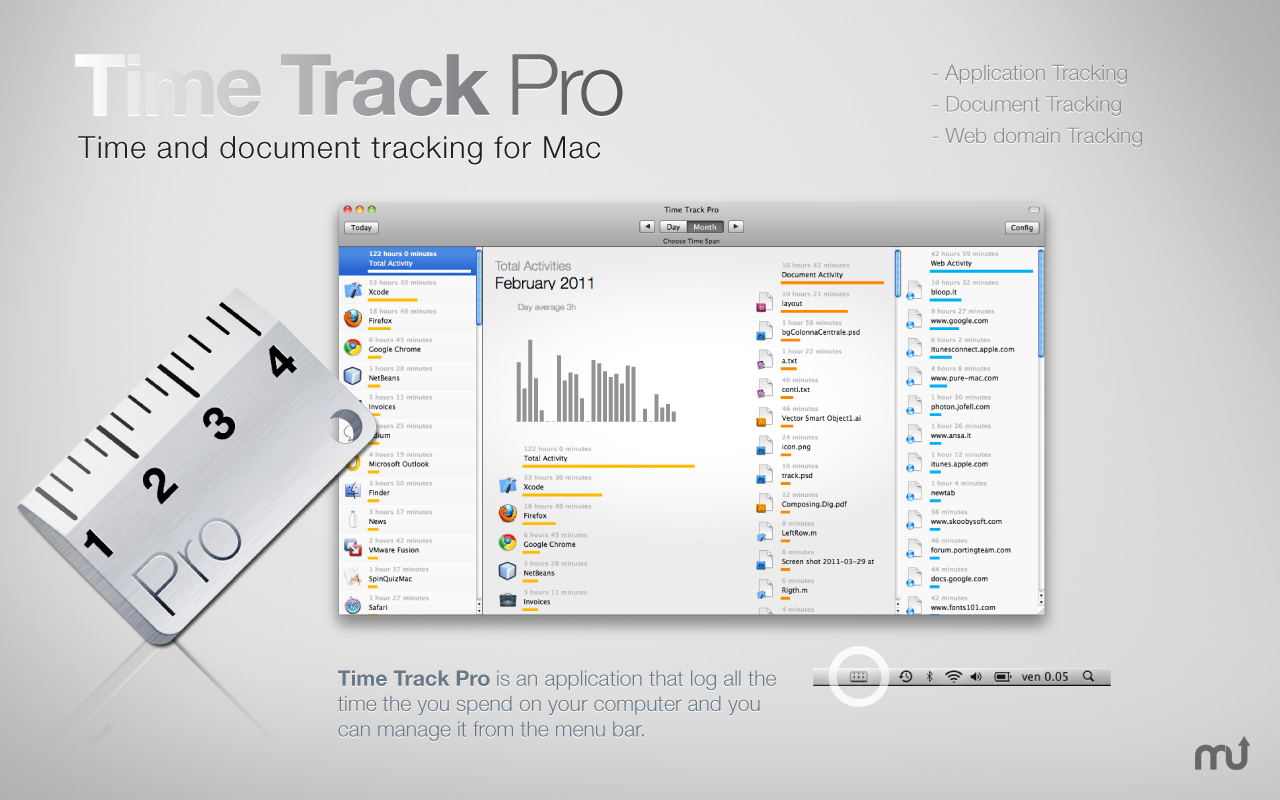 Screenshot 1 for Time Track Pro