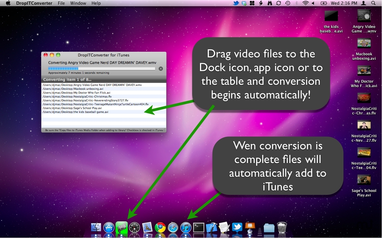 Screenshot 1 for DropITConverter