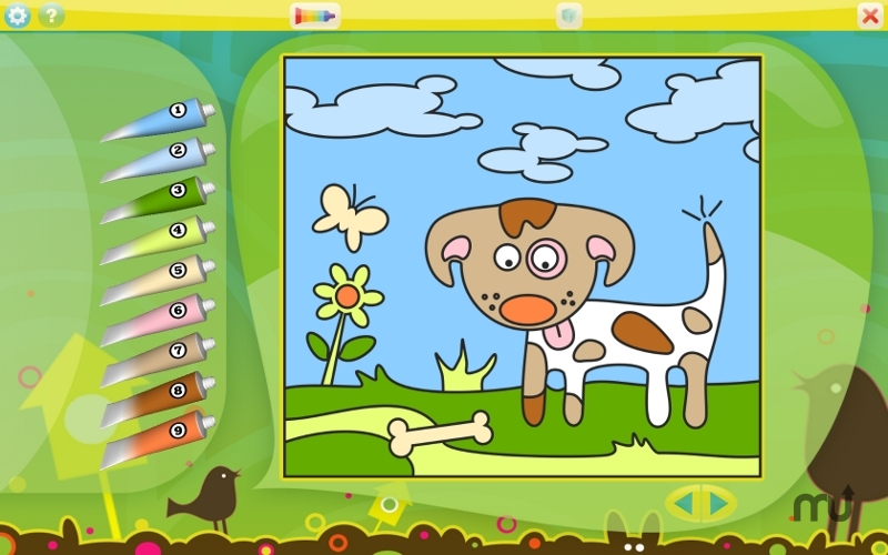 Screenshot 1 for Color by Numbers - Animals
