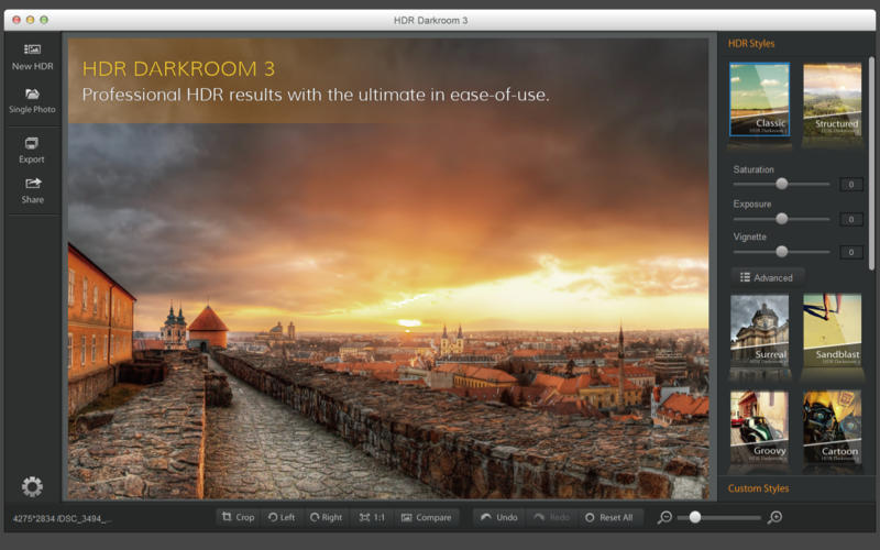 Screenshot 1 for HDR Darkroom 3