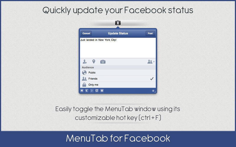 Screenshot 3 for MenuTab for Facebook