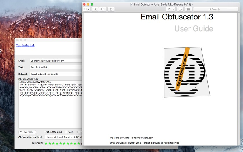 Screenshot 5 for Email Obfuscator