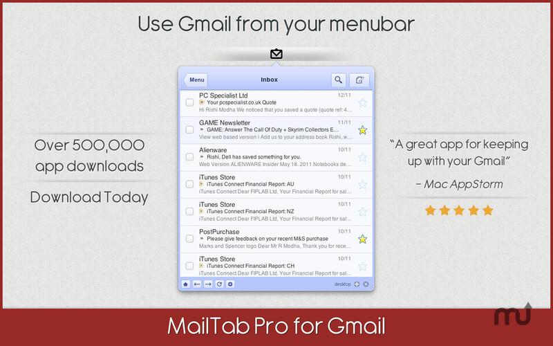 Screenshot 1 for MailTab for Gmail