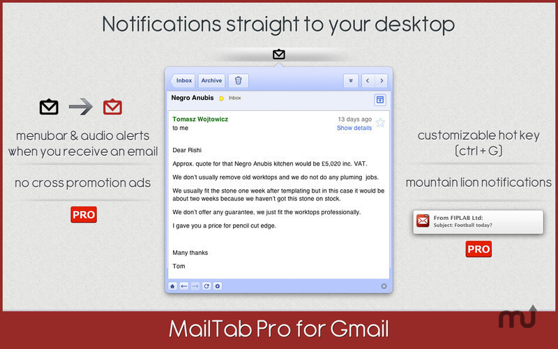 Screenshot 2 for MailTab for Gmail