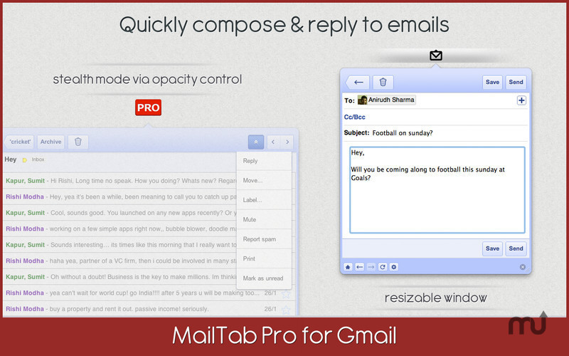 Screenshot 4 for MailTab for Gmail