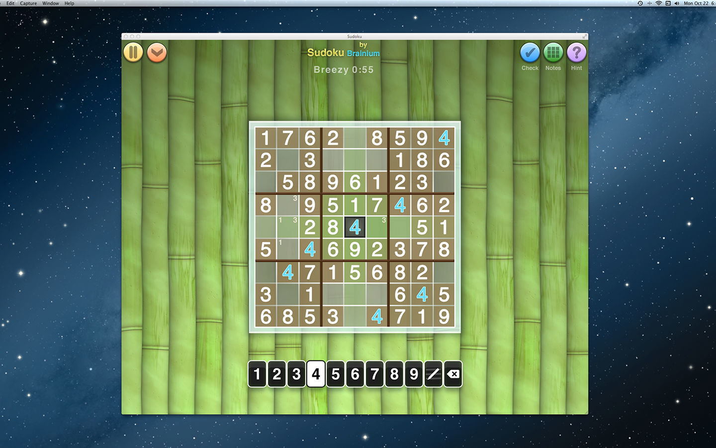 Screenshot 1 for Sudoku OneTouch