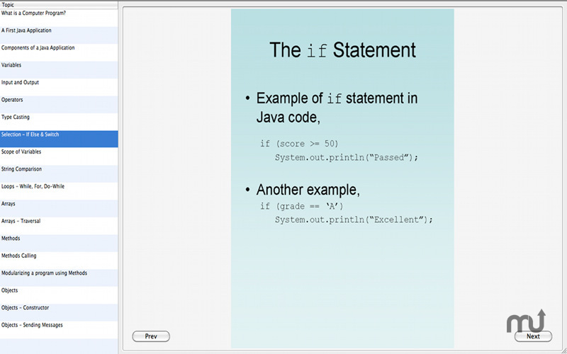 Screenshot 1 for Learn Java