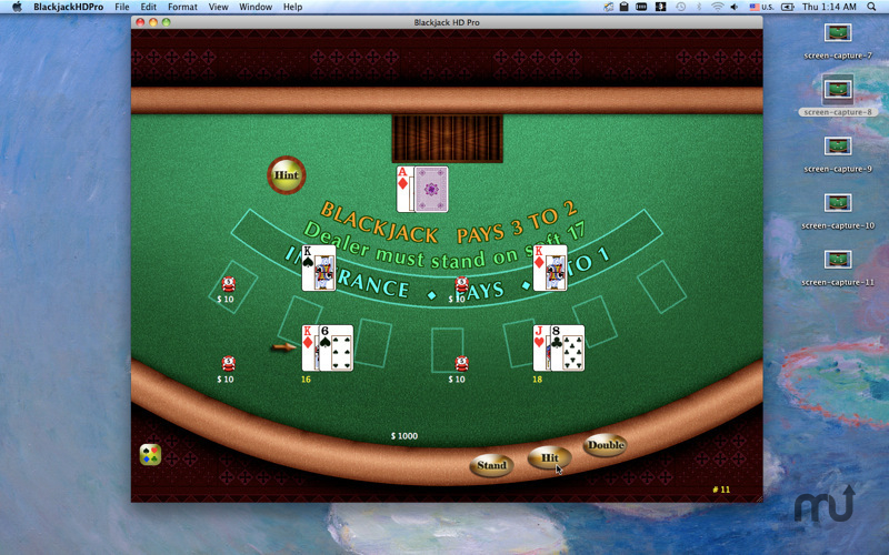 Screenshot 1 for Blackjack HD Pro