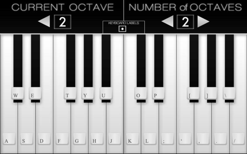 Screenshot 1 for Virtual Piano